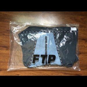 grey/ blue FTP raincoat / Hoodie